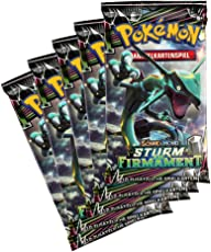 PKM Pokemon Sammelkartenspiel: 5 Booster - SM7: Sturm am Firmament - Vorteilspack