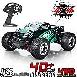 MaxTronic RC Voitures, RC Crawler Racing Véhicule Camion 2.4Ghz 4WD Haute Vitesse 1:20 Radio Télécommande Buggy Électrique Course Rapide Hobby (Vert)