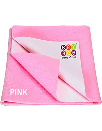 Bey Bee Just Dry Waterproof Bed Protector Sheet - Medium (Pink)