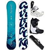 Bindung Master FASTEC Boots Airtracks Damen Snowboard Komplett Set//Board Orbelus Camber SB Bag // 140 145 150 // cm
