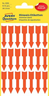 Tomaibaby 30Cm Rote Pfeilaufkleber Abnehmbare Selbstklebende Pfeilaufkleber f/ür B/öden W/ände Und Stufen Packung mit 20 St/ück