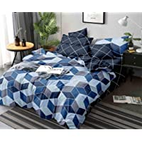 Reliable Trends Polycotton Queen Size Quilt Cover/Dohar with Bedsheet and 2 Pillow Covers 90x100 inches (Spaceship)