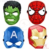 Party Propz 4Pcs Avenger Mask for Avengers Birthday Party Decoration Boys (4PcMask, 4Pcs)
