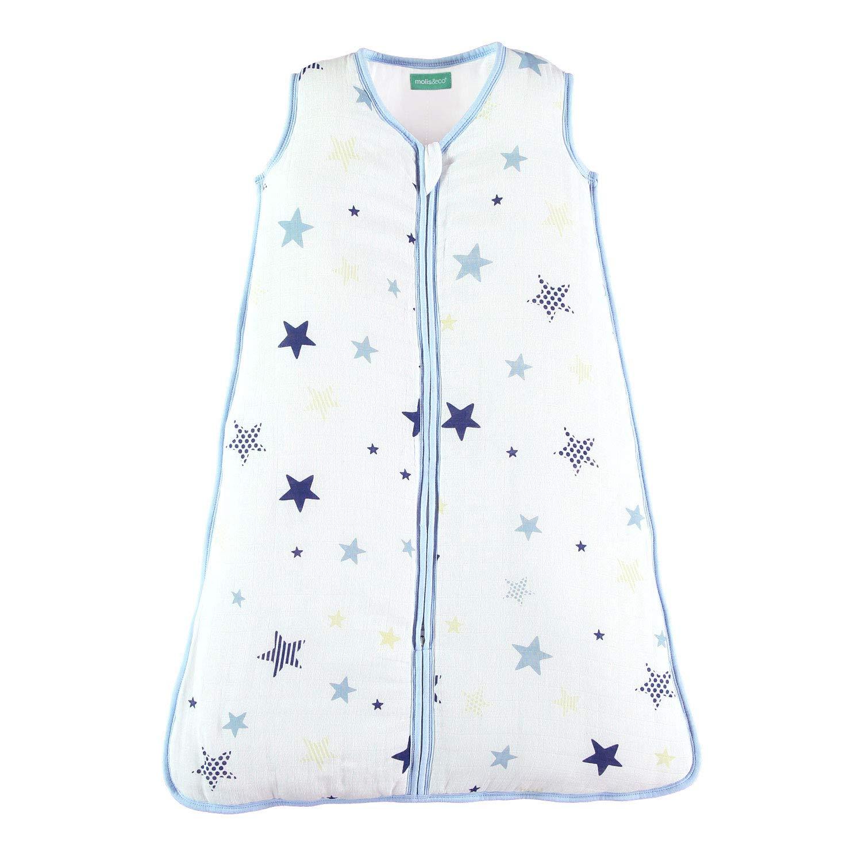 molis&co. Saco de Dormir para bebé. Ideal para Entretiempo e Invierno. 2.5 TOG. Súper Suave y cálido. Muselina Premium Acolchado.