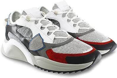 Philippe Model Sneakers Uomo Multicolor in Pelle PVC e Nylon EZLU