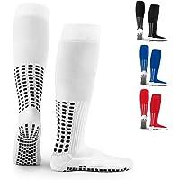 LUX Anti Slip Knee Football Socks,Non Slip Football/Basketball/Hockey Sports Grip Socks