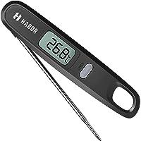 Habor Thermomètre de cuisine numérique avec capteur à lecture instantanée et sonde pliable pour la cuisson des aliments…