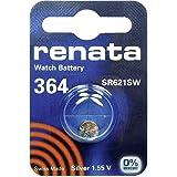 364 (SR621SW) Batteria Pulsante / Ossido di Argento 1.55V / per Orologi, Torce, Chiavi della Macchina, Calcolatrici, Macchine