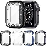 FITA [4 Piezas] Funda Compatible con Apple Watch Series 6/5/4/SE 44MM Protector, Suave TPU Cobertura Completa Protector de Pa
