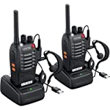 eSynic 2Pcs Walkie Talkies 2 Way Radio Long Range Rechargeable Walkie Talkies Portable Handheld Adult Walkie Talkie With…