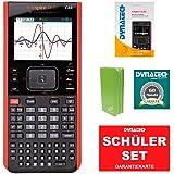 TI-Nspire CX II-T CAS Grafikrechner + grüne Schutztasche + Garantieverlängerung + Im Fokus: Das Buch zum Rechner