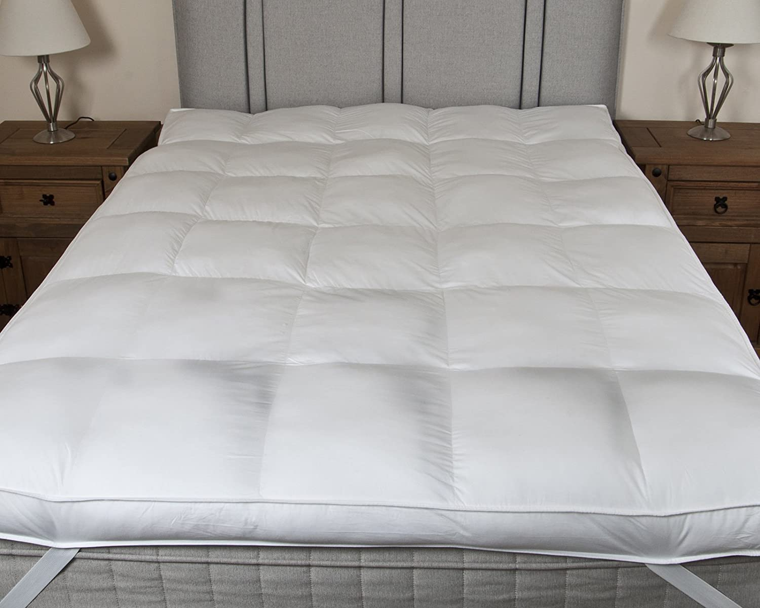 bedding direct uk hotel quality luxury 100 200tc cotton 4 inch thick mattress topper single size amazoncouk kitchen u0026 home