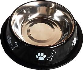 JKM PET HUB Standard Dog Food Bowl -Black 250ML