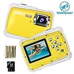 Unterwasser Kamera für Kinder,12MP HD wasserdichte Digitalkamera,Mini Action Camcorder Kinderkamera,2.0 Zoll LCD...