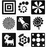 Tarjetas Negras y Blancas para Bebés, 48 Imagenes 5,5 x 5,5 Pulgadas Tarjetas de Contraste Diseñado para Juguete de Bebés Rec