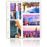 Arpan 20 Refill Photo Album Sheet Holds 6x4'' 200 Photos For Large Ringbinder Photo Album