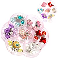 Toyvian Lovely Kids Clip-on Earrings Girls Play Ear Clips Dress-up Princess Party Favors 4 Pair