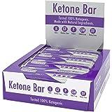 Barra De Cetonas (Caja De 12 Barras) | Snack Bar Ketogénico | Contiene C8 MCT Aceite Puro | Paleo & Keto | Sin Gluten | Sabor