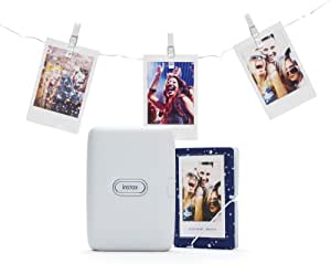 Instax Link Smartphone Drucker Set Ash White Kamera