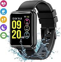Seneo Smartwatch IP68, Orologio Fitness Tracker Uomo Donna Pedometro Cardiofrequenzimetro da Polso Calorie Monitor del...
