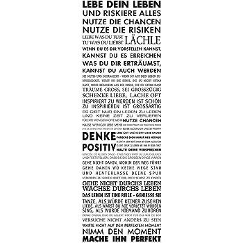 Poster Motivationssprüche Lebe dein Leben 53 x 158 cm
