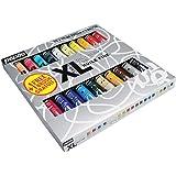 Pébéo - Olio Fine XL Astuccio 20 tubetti da 20 ml assortiti e pennello - Valigetta colori a olio e pennello - Kit colori a ol