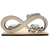 Porte-bougie Infinity Love - Cadeau Romantique Pour Couple - Personnalisé Avec Les Deux Prénoms - Parfait Pour la Saint…