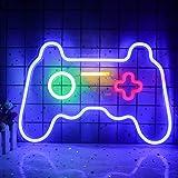 Spiel Leuchtreklame Gamepad Controller Leuchtreklamen Gaming Wandleuchten Dekor für Spielzimmer Blaue Gamer Konsole Neonlicht