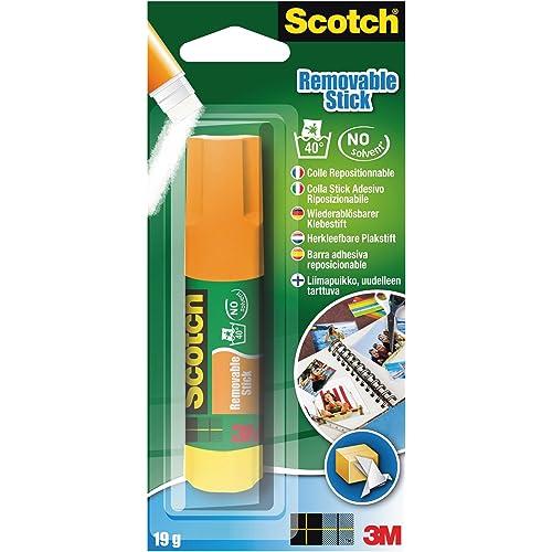 Scotch Colla Stick Removibile, Senza Solventi, 1pz x 19 g