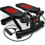 Sportstech 2in1 Twister Stepper with Power Ropes - STX300 Swing Stepper & Sidestepper for beginners & advanced users, up-down