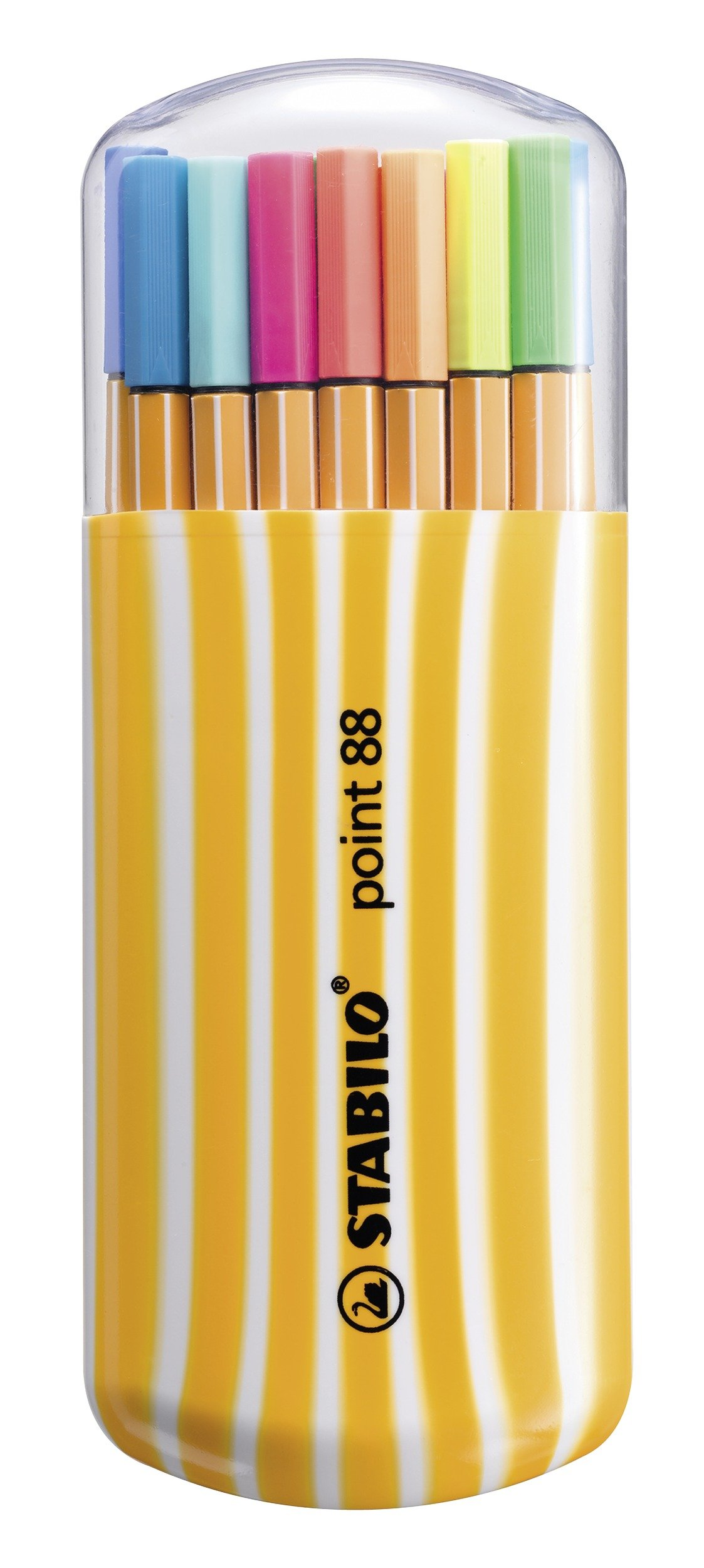 Rotulador punta fina STABILO point 88 – Estuche premium Zebrui con 20 colores