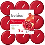 Bolsius True Scents Tealights Profumati e Colorati in PC-Cup, Cera, Rosso, Standard, 18 unità