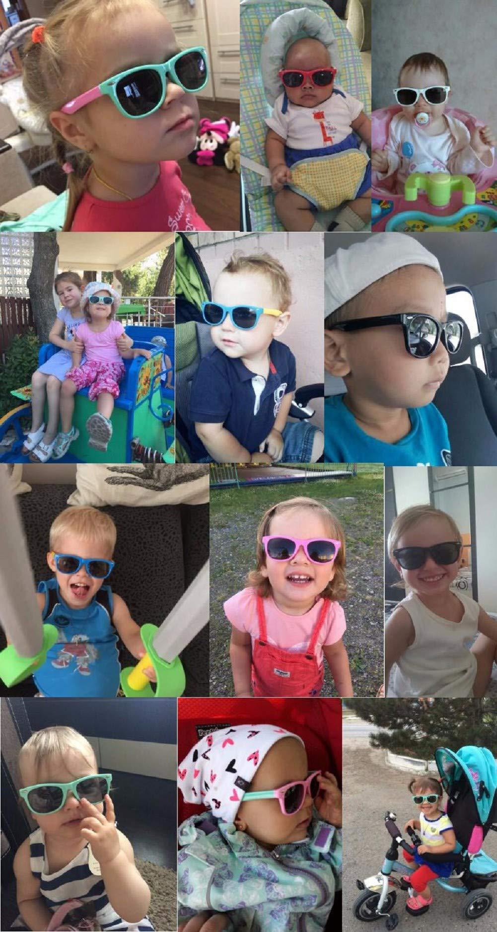 Flyfish Gafas de sol geniales para niños Gafas de sol para niños Niños Chicas Sunglass UV 400 Protección con estuche… 2