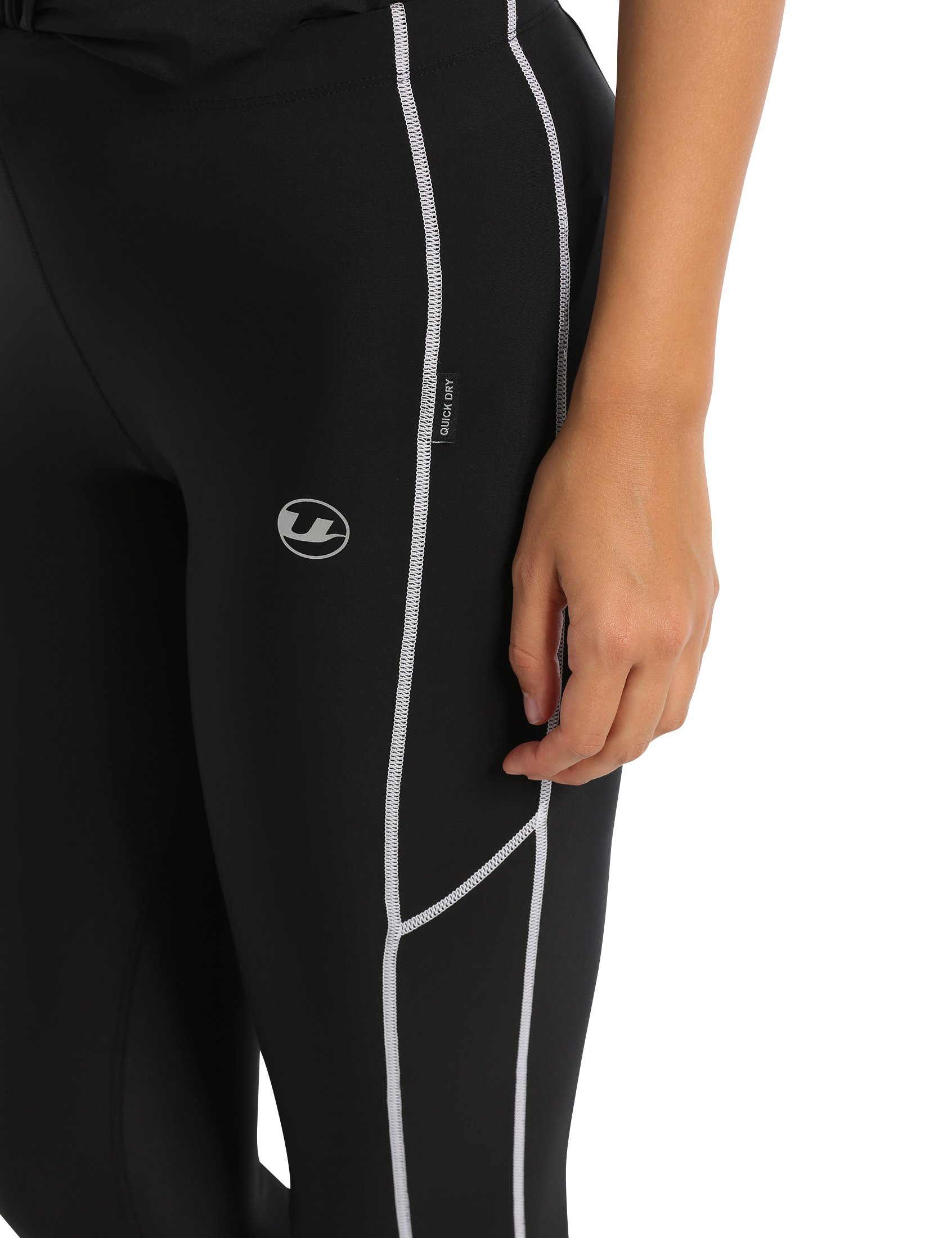 71TMU6 8VCL - Ultrasport Women's Running Pants Capri with Compression Effect & Quick-Dry-Function