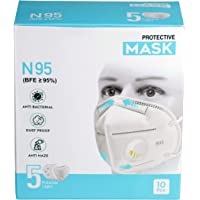 Bebop N95 Face Mask | 5 Layered High Filtration Capacity with genuine Meltblown and Hot Air Cotton | Five Layer Reusable…