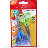 """Faber-Castell Student Scissors Of 3Pc 5"""" In A Blister"""