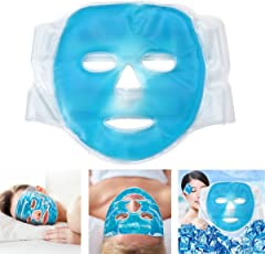 Funwill, maschera facciale refrigerante,confezione di gel per mal di testa, pelle, sonno e ghiaccio per occhi gonfi
