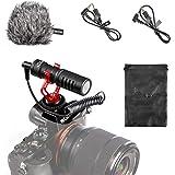 BOYA Micrófono de Video Tipo Pistola, Mini micrófono de grabación en la cámara Compacto Universal, Condensador direccional pa
