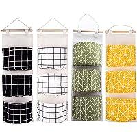 doppio lato 42 Pockets Hanging Storage Bag Haoranjia per la casa o il campeggio in tessuto Oxford Nero Organizer da appendere con molte tasche nero