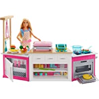 Barbie - Cucina da Sogno con Bambola, 5 Aree di Gioco, Pasta Modellabile, Luci e Suoni, Giocattolo per Bambini 4 + Anni…