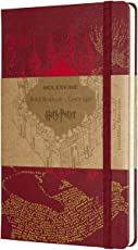 Moleskine Harry Potter Large Notizbuch (Liniert, Hard Cover) rot