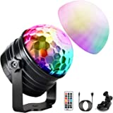 Disco Lights, OMERIL Music Activated Disco Ball Lights with Star Pattern, 11 RGBY Color Effects, 360 ° Rotable Party Light wi