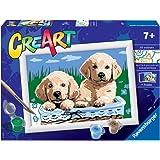 Ravensburger 28931 8 CreArt Serie E - Cani Retriever, Dipingere con i Numeri, Gioco Creativo per Bambine e Bambini, Età Racco