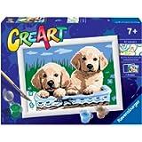 Ravensburger 28931 8 CreArt Serie E - Cani Retriever, Dipingere con i Numeri, Gioco Creativo per Bambine e Bambini, Età…