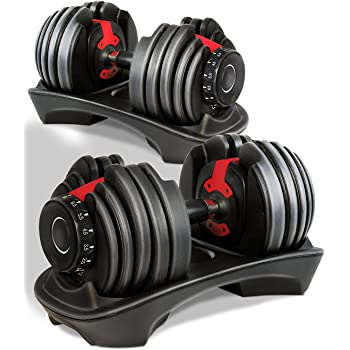 99a090a216d Atlas Adjustable Dumbbells Set 2-24kg Selectable Dial 15 Different Weights  Home Gym Fitness Training