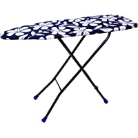 Rjkart Made In India Super Heavy Metal Large Foldable Ironing Board with Iron Holder (Multi)