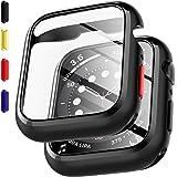 EGV Compatibile con Apple Watch SE/Series 6/ Series 5/ Series 4 40mm Pellicola Protettiva, 2 Pacco, Paraurti con Copertura in
