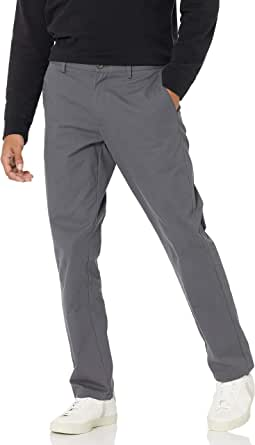 Amazon Essentials Men's Slim-Fit Wrinkle-Resistant Flat-Front Chino Trousers