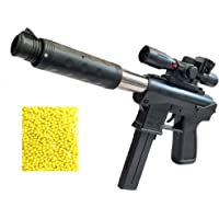 Amitasha Long Range Round Gun Toy with Plastic Bullets for Kids