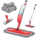 Balais Serpillère, Bellababy Spray Mop avec 3 Tampons de Vadrouille de Rechange, Balai Plat pour la Maison, la Cuisine, le Bo